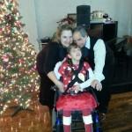 Sara with Mom and Dad Christmas 2013
